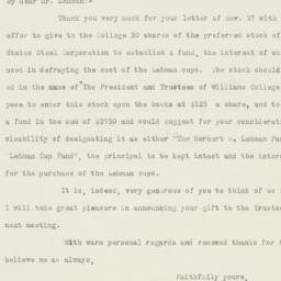 Letter: 1925 November 30