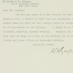 Letter : 1926 February 27