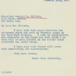 Letter : 1941 January 18