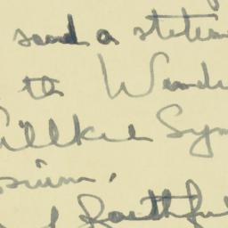 Letter : 1945 February 10