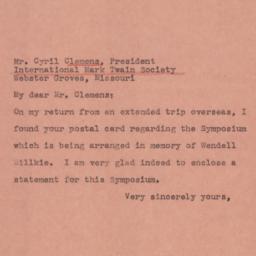 Letter : 1945 February 17