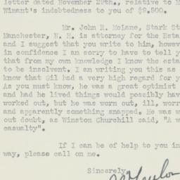 Letter : 1947 December 5