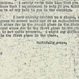 Letter : 1929 October 4