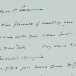 Letter : 1934 April 6