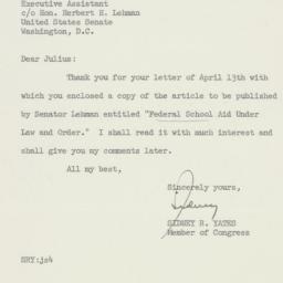 Letter : 1956 April 17