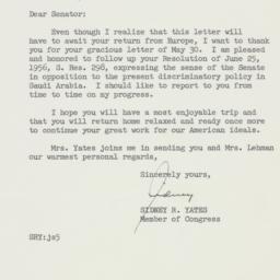 Letter : 1957 June 3