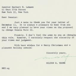 Letter : 1958 December 13