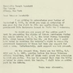 Letter : 1951 September 11