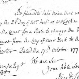 Document, 1769 September 1