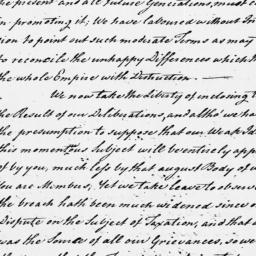 Document, 1775 June 29