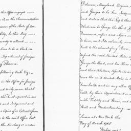 Document, 1785 March 1-Marc...