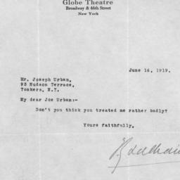 1 letter, 16 June 1919
