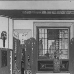 1 photo of set drawing, Act II