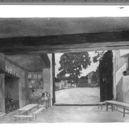 1 photo of set drawing, Inn...