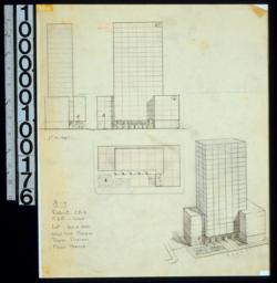 A-4 : perspective, plans & elevations.