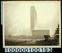 Preliminary study, United Nations Headquaters : north elevation :[Drwg] #156 /