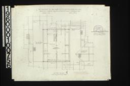 Attic plan\,Full Size cut of strips on malthoid roof :Sheet No. 4\,