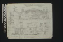 West elevation\, south elevation\, sections :Sheet No. 6\,