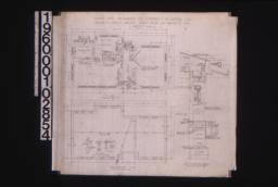 Office -- plan\, foundation plan with sections\, section thro' wall : Sheet no. 1.