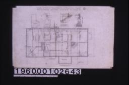 Foundation plan ; details -- chimney footing, footing for girder posts, section at A-B, section thro' wall : 1.