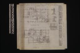 Foundation plan; main floor plan; detail of chimney footing for living rm. fireplace (dining rm. chimney footing same detail); detail drawings of piers and footings; interior elevations -- north side in liv. rm\, west side of liv. rm. and hall\, north side of dining rm\, east side of pantry and dining room\, south side of bedrm. 1 :Sheet no. 1.