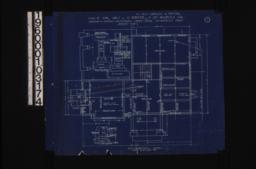 Foundation plan; detail of pier footings\, section thro' wall footings\, section thro' chimney at A-A :Sheet no. 1.