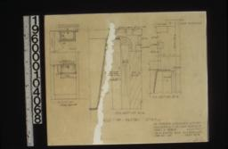 Details of pantry sink -- plan\, elevation\, F.S. section A-A\, F.S. section B-B : Sheet no. 14.