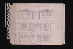 Exterior elevations of office -- north\, south\, west\, east : Sheet no. 2.