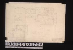 Partial floor plam; alternate plan for So. kitchen (there is less waste space in this) :Sheet no. 1.