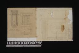 Details of small windows in bedr'm 1 -- elevation\, F.S. details through lower part with section thru mould\, F.S. detail of head and panel :Sheet no. 2[?].