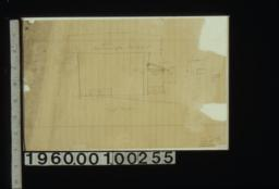 Rough sketch of west elevation showing porch\, plan of porch