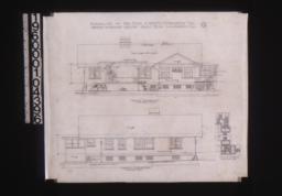 South elevation; north elevation; plan of corner A :4.