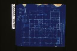 """Foundation plan; foundation details -- post footing\, wall section (see elevations for height of walls)\, porch piers\, section """"C-C"""" :Sheet no. 1. (3)"""