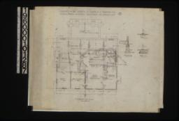 """Foundation plan\, section """"A-A""""\, piers """"C""""\, piers """"B"""" :No. 1."""