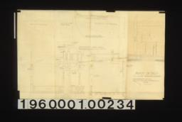 Porch details -- elevation and sectio of front porch\, details of beams in plans and elevations\, full scale details of rafters\, beams and post\, cap and bracket :No. 13.