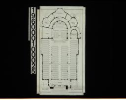 Seat chart before alteration, in plan