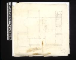 Rough preliminary sketch of 1st floor plan /