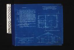 Garage -- plan, south elevation, east elevation :Sheet no 1.