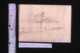 Rough sketch of elevation of house