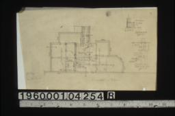 Foundation plan\, section A-A\, section B-B.