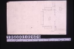 Plan of sleeping porch\, 2d floor.