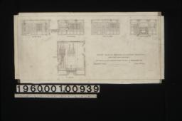 1/4 inch scale details of dining room -- elevations of east side\, south side\, west side\, and north side; plan : Sheet no. 11\,
