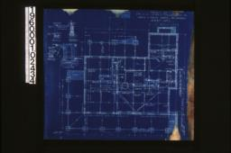 """Foundation plan; foundation details -- post footing\, wall section (see elevations for height of walls)\, porch piers\, section """"C-C"""" :Sheet no. 1. (5)"""