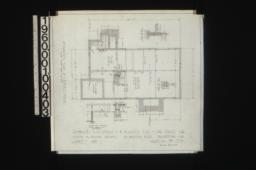 Foundation plan of\, keeper's house with sections : Sheet no. 1\,