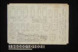 Inch scale and full sized details of sash :Sheet no. 17,