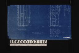 Partial foundation plan; elevation of opening in cellar wall :Sheet no. 1.