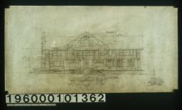 East elevation\, plan of steps :Sheet no. 5. (2)