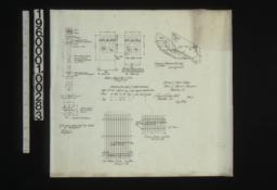 Details of iron work -- 1/2 inch scale details of cast iron columns and bearing plates\, details of guard plates on piers\, isometric of basement post caps\, detail drawings of iron window guards :No. 7\,