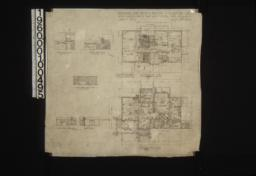 Second floor plan\, first floor plan; interior elevations -- hall-south end and west side\, living room-west side\, dining room-east side and west side : Sheet no.2\, (2)