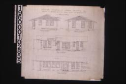 Exterior elevations of office -- south\, north\, west\, east :Sheet no. 2.